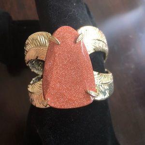 Kendra Scott Celeste Cuff Bracelet Brown Goldstone